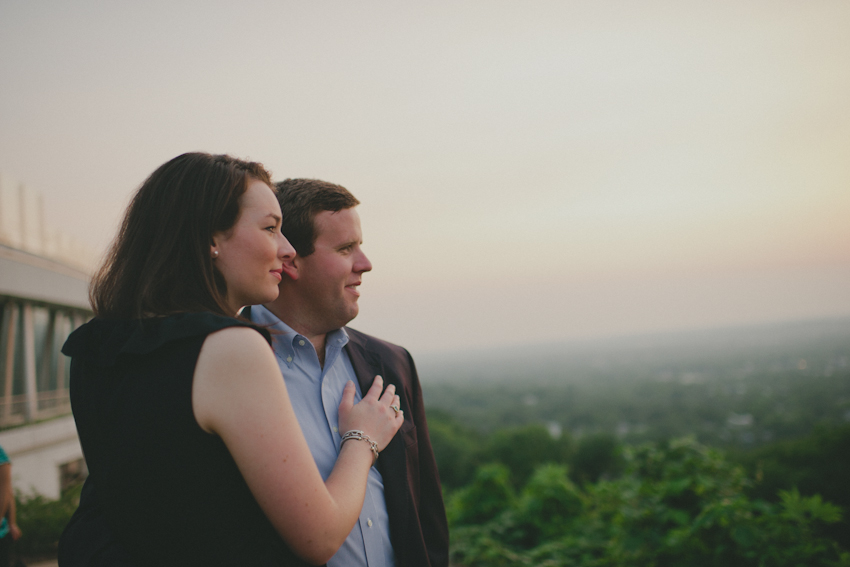 The view at The Club in Birmingham AL, Engagement Session