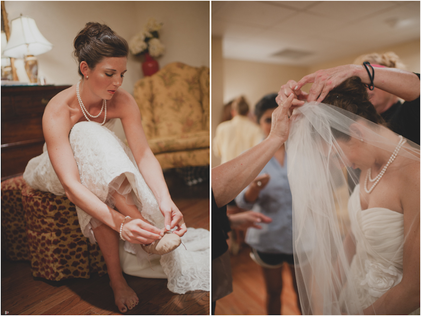 Bride Getting Dressed Spindle Photography
