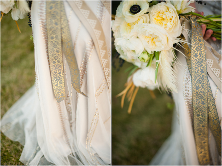 Cloth of Gold Flowers Art Deco Wedding Inspiration by Spindle Photography