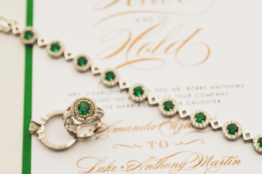 Wedding jewelry with emeralds- Spindle Photography