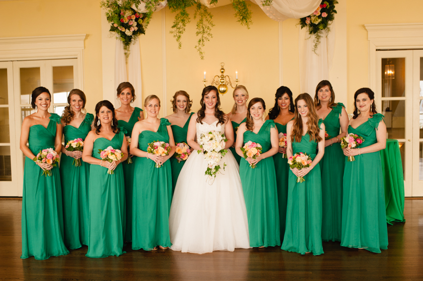 bridesmaids in green, Spindle Photography