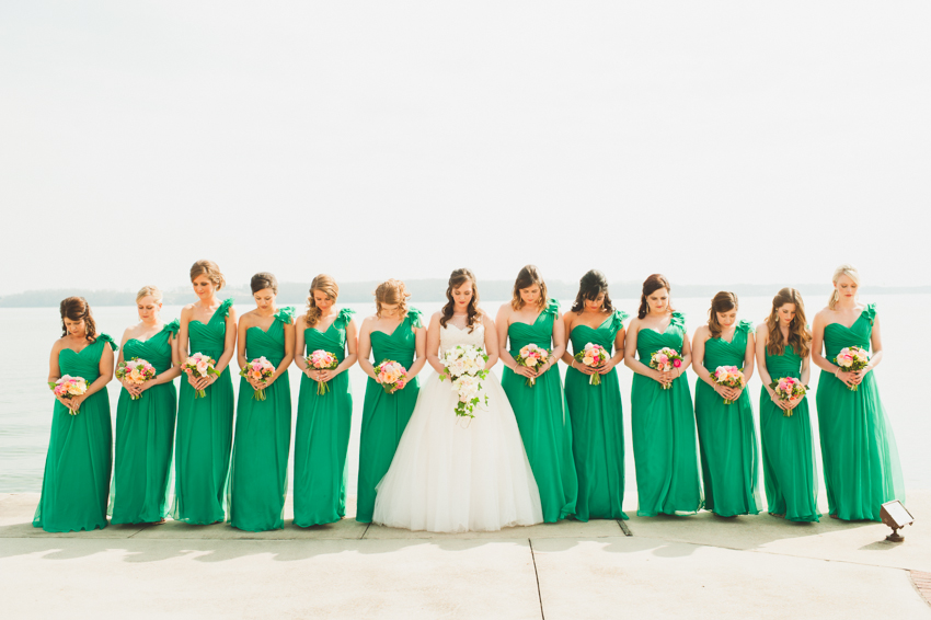 bridesmaids in green Spindle Photography